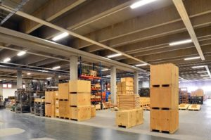 LED lamps for warehouses