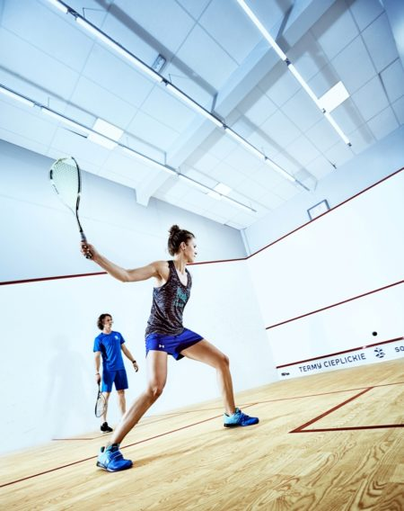LED lighting for squash courts