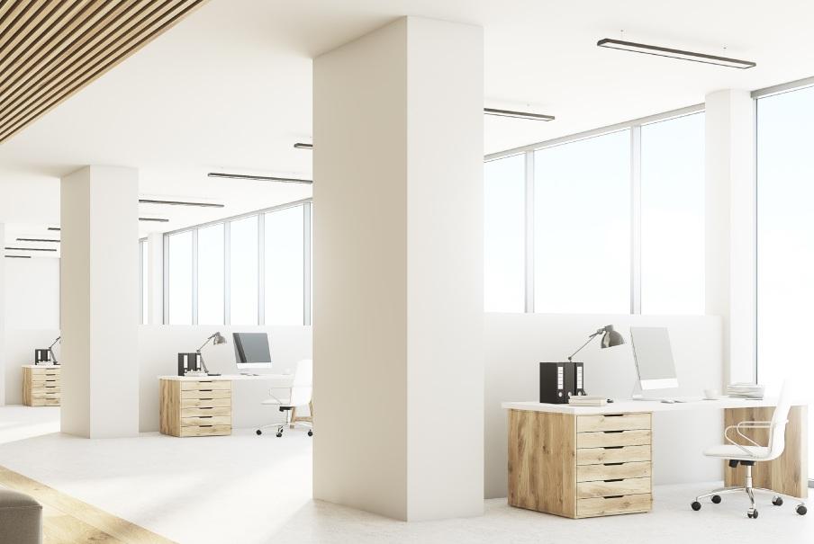 lineare LED-Lampe für das Büro