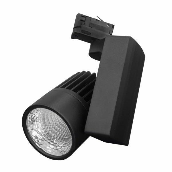 Oświetlenie sklepu, reflektor LED do szynoprzewodu