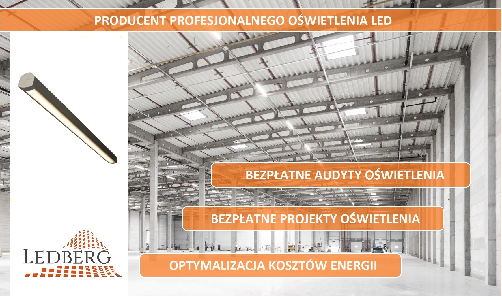 Lampa przemysłowa LED producent